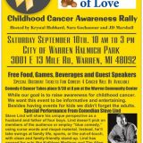 Childhood Cancer Awareness Rally. September 10th.