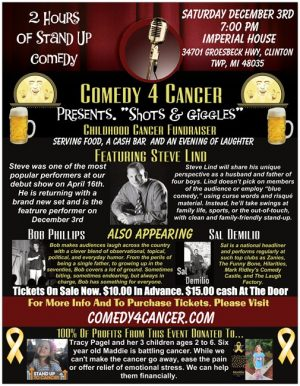 "Comedy 4 Cancer Presents. ""Shots & Giggles"""