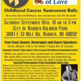 Childhood Cancer Awareness Rally. September 10th.