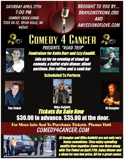 comedy 4 cancer presents. road trip
